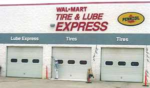 Painting the outside of Walmart's Express Lube